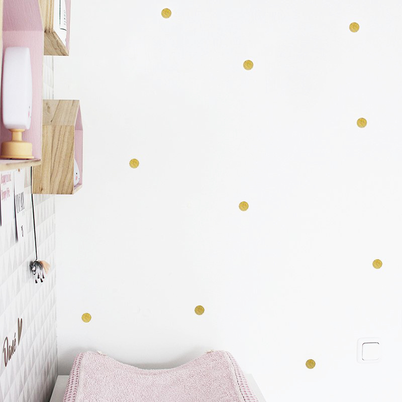 Wall stickers 'Dots' // Gold or copper