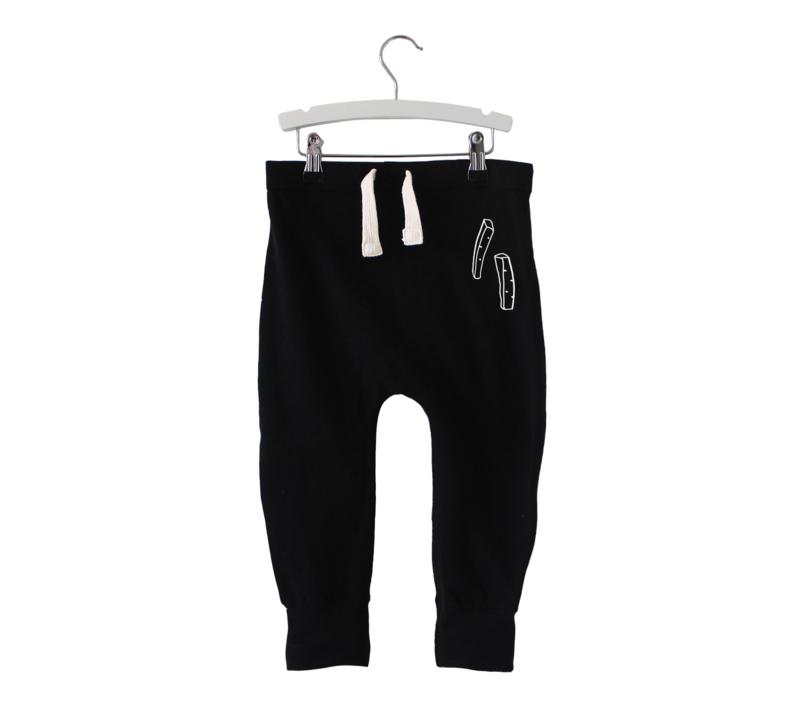 Baggy pants // Fries party - Zwart