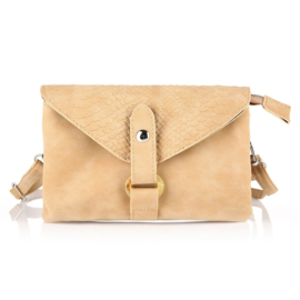 Crossbodytas Croco Camel