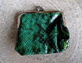 Beugelportemonnee Snake Green