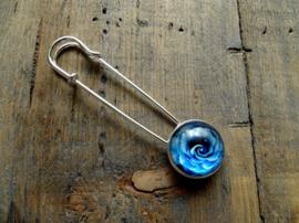 Sjaalspeld Bloem Blue