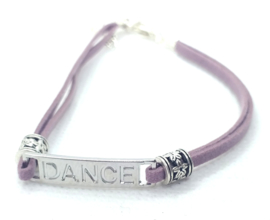 2 Love it Purple Dance - Enkelbandje - Paars - Zilverkleurig