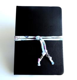 2 Love it Flower - Elastiek - Koord - Agenda - Journal - Planner- Blauw - Groen - Roze - Wit - Zilverkleurig