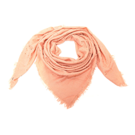 Sparkle Pink - Sjaal - Shawl - Scarf - 140 x 140 cm - Acryl - Roze - Goudkleurig