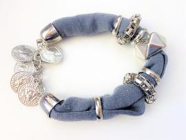 2 Love it Penny - Armband - Elastisch - Zilverkleurig - Grijs