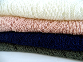 Sjaal Crochet Offwhite