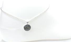 2 Love It Dierenprint C - Enkelbandje - Dames - Verstelbaar in maat - 23 - 28 CM - Metaal - Groen - Wit - Zwart - Zilverkleurig