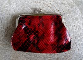 Beugelportemonnee Snake Red