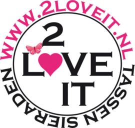 2 Love it Roodborstje - Schuifspeldjes - Haarspeld - Kinderen - Set van 2 - Lengte 7 cm - Lood & Nickelvrij - Bruin - Rood - Roze - Wit - Zilverkleurig