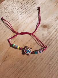 2 Love it Schildpad - Armband - Enkelbandje - Dames - Kinderen - One size - Polymeer - Multicolor