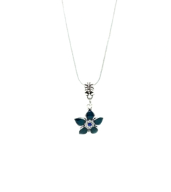Ketting Flower Blauw