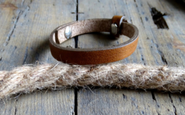 Cuoio armband Saddle Brown