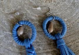 Oorbellen Festive Blauw