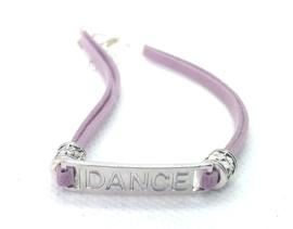 2 Love it Purple Dance - Enkelbandje - Paars - Zilverkleurig