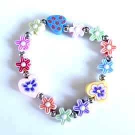 2 Love it - Madelief - DIY - Armband - Polsmaat 14- 16 cm - Acryl - Kinderen - Multicolor