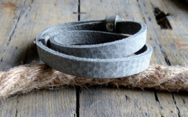 Cuoio armband Natural Grey