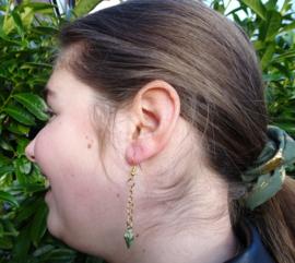 Scrunchie Green Feather