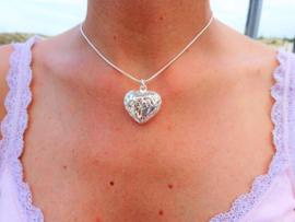 2 Love it Big Heart - Ketting - 46 cm - Metaal  - Zilverkleurig