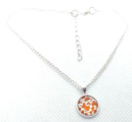 2 Love It Dierenprint F - Enkelbandje - Dames - Verstelbaar in maat - 23 - 28 CM - Metaal - Bruin - Wit - Zilverkleurig