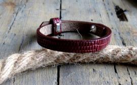 Cuoio armband Magenta Purple