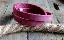 Cuoio armband Rubine Pink