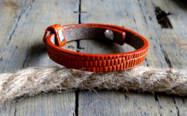 Cuoio armband Samba Orange