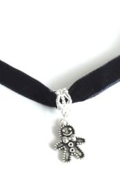 2 Love it Arreslee -  Ketting - Oorbellen - Sieradenset - Kerst - 35 tot 40 CM - Zwart - Zilverkleurig
