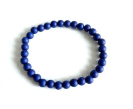 2 Love it BASIC Oxford Blue - Armband - Elastisch - Polsmaat 18 - 20 cm - Elastiek - Acryl - Blauw