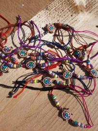2 Love it Schildpad - Armband - Enkelbandje - Dames - Kinderen - One size - Polymeer - Multicolor