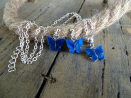 Sieradenset Vlinder Blauw