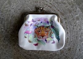 Animals - Portemonnee - Knip portemonnee - Wallet - Kinderen - 8 x 9 cm - PU leer - Beige - Mint - Roze