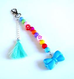 2 Love it Bloemstrik - DIY - Do it yourself - Sleutelhanger - Tashanger - Acryl - Kinderen - Multicolor