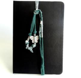 2 Love it Butterfly Green - Elastiek - Koord - Agenda - Journal - Planner- Groen - Wit - Zilverkleurig