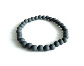 2 Love it BASIC Grey - Armband - Elastisch - Polsmaat 18 - 20 cm - Elastiek - Acryl - Grijs