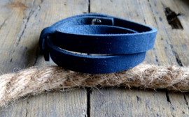 Cuoio armband Indigo Blue