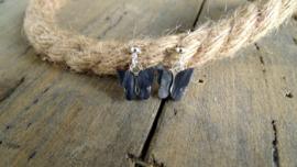 Sieradenset Vlinder Zwart