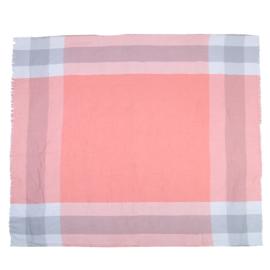 Blocks R - Sjaal - Omslagdoek - Polyester - Katoen - 140 x 140 cm - Vierkant - Roze