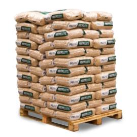 Houtpellets premium wit 1050 kg