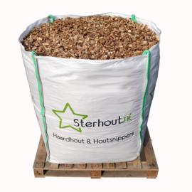 Houtsnippers premium+ gezeefd big bag 1 kuub