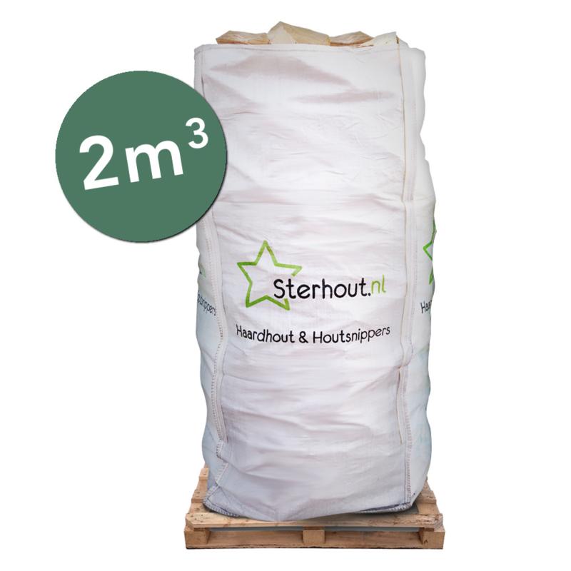 Stookmix haardhout in big bag 2 kuub