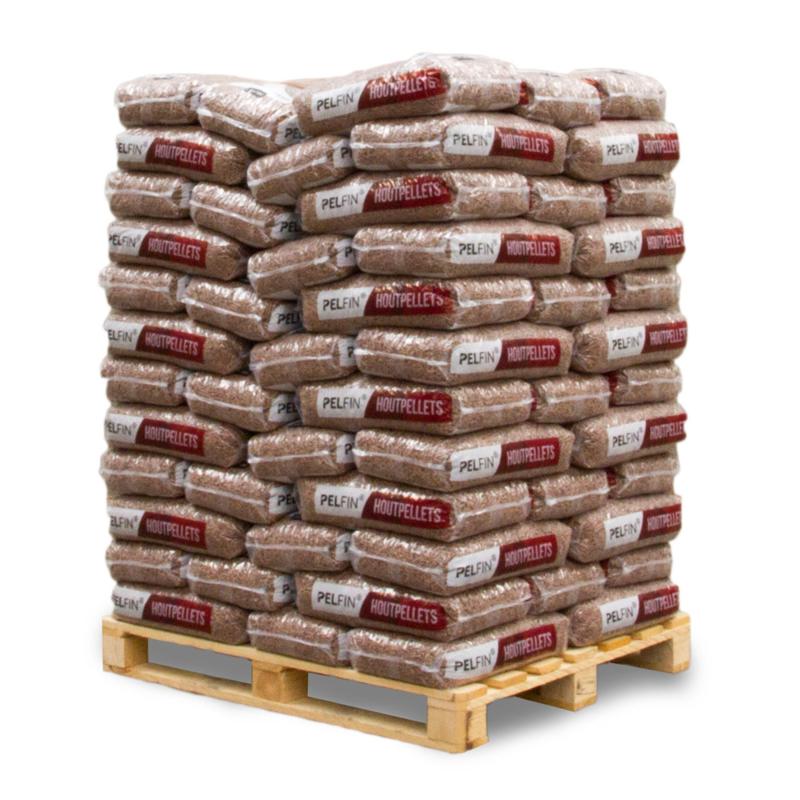 Houtpellets premium bruin 1050 kg