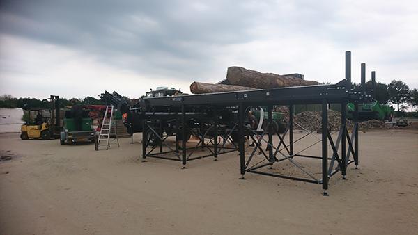 Sterhout zaag-kloofmachine 7