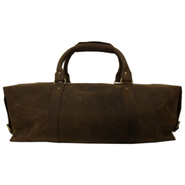 Leren weekendtas -reistas - model Cambridge - 40L (bruin)