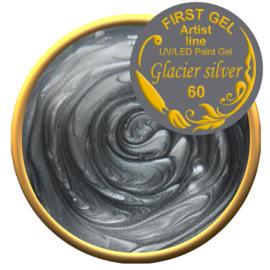 Glacier Silver 60, 5g. Zonder plaklaag