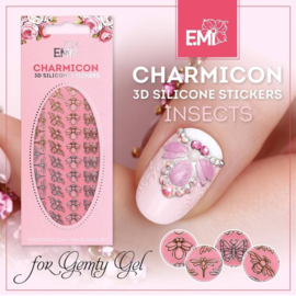 Charmicon 3D Silicone Stickers voor Gemty gel- INSECTS