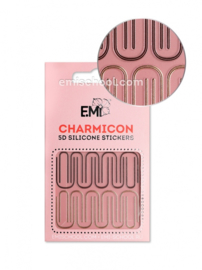 Charmicon 3D Silicone Stickers #97 lines