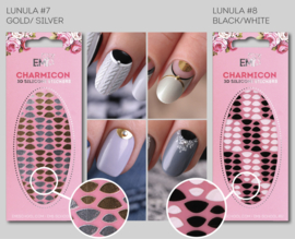 Charmicon Lunula #7 Gold/Silver en #8 Black/White