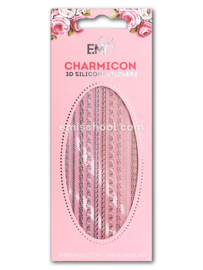 Charmicon 3D Silicone Stickers Ornament MIX #1 en  White #2