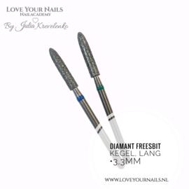 Diamant freesbit  Kegel  3,3mm