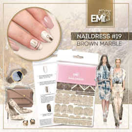 Naildress #19 Brown marble